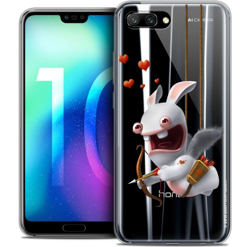 "Coque Gel Huawei Honor 10 (5.8"") Extra Fine Lapins Crétins™ - Flying Cupidon"