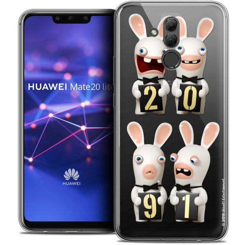 "Coque Gel Huawei Mate 20 Lite (6.3"") Extra Fine Lapins Crétins™ - New Year"