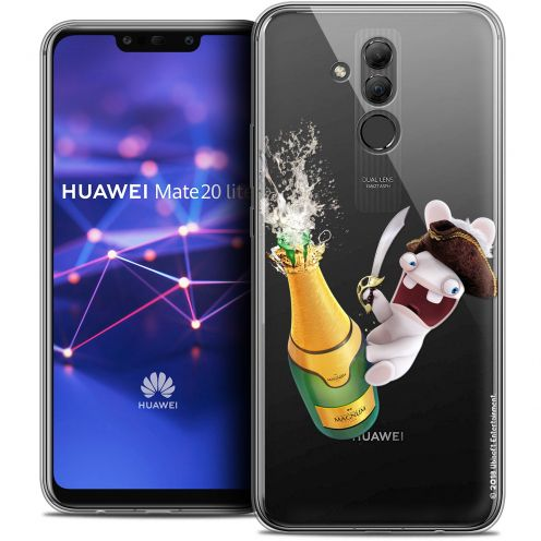 "Coque Gel Huawei Mate 20 Lite (6.3"") Extra Fine Lapins Crétins™ - Champagne !"