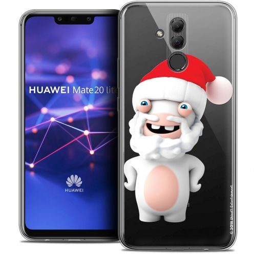 "Coque Gel Huawei Mate 20 Lite (6.3"") Extra Fine Lapins Crétins™ - Lapin Noël"