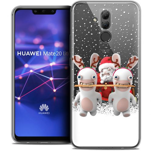 "Coque Gel Huawei Mate 20 Lite (6.3"") Extra Fine Lapins Crétins™ - Lapin Traineau"