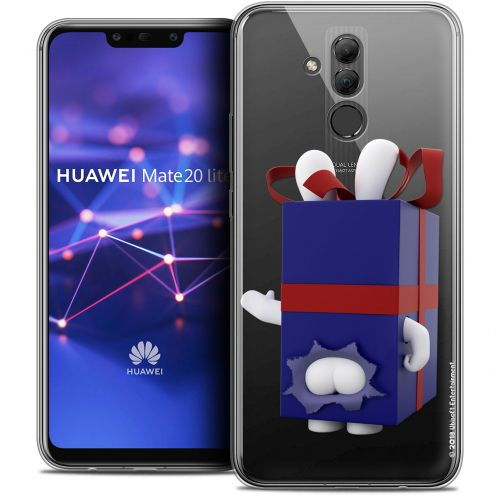 "Coque Gel Huawei Mate 20 Lite (6.3"") Extra Fine Lapins Crétins™ - Lapin Surprise Bleu"