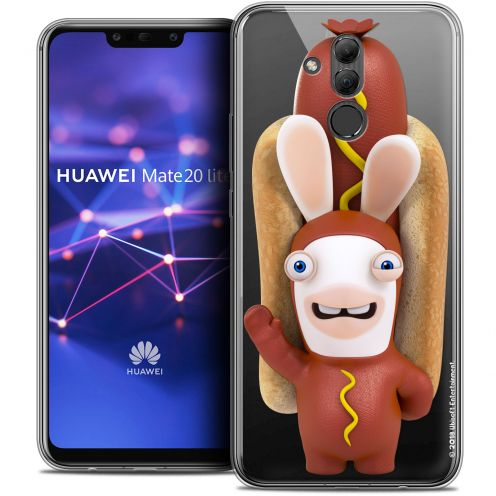"Coque Gel Huawei Mate 20 Lite (6.3"") Extra Fine Lapins Crétins™ - Hot Dog Crétin"