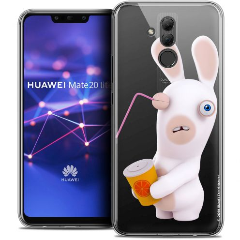 "Coque Gel Huawei Mate 20 Lite (6.3"") Extra Fine Lapins Crétins™ - Soda Crétin"