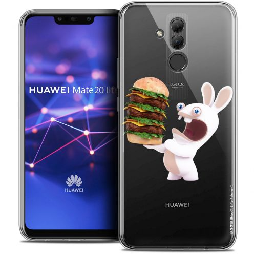 "Coque Gel Huawei Mate 20 Lite (6.3"") Extra Fine Lapins Crétins™ - Burger Crétin"
