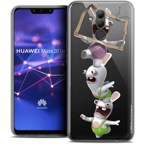 "Coque Gel Huawei Mate 20 Lite (6.3"") Extra Fine Lapins Crétins™ - TV Sport"