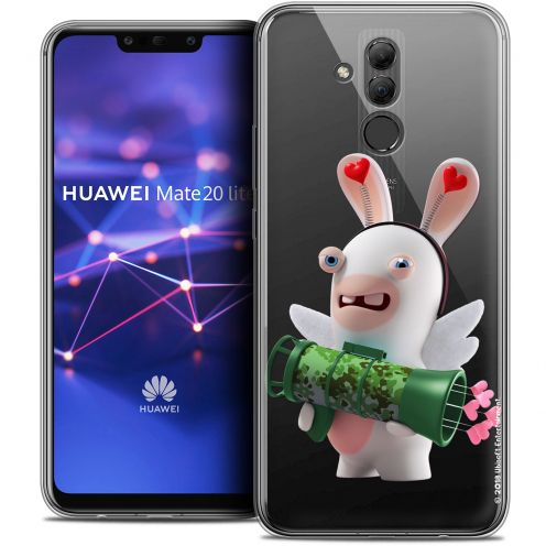 "Coque Gel Huawei Mate 20 Lite (6.3"") Extra Fine Lapins Crétins™ - Cupidon Soldat"