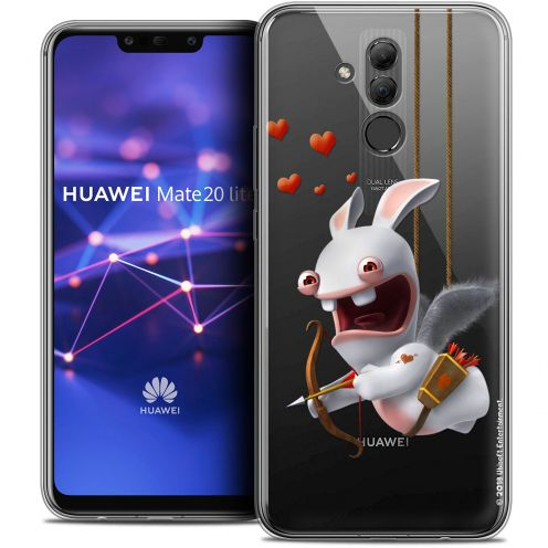 "Coque Gel Huawei Mate 20 Lite (6.3"") Extra Fine Lapins Crétins™ - Flying Cupidon"