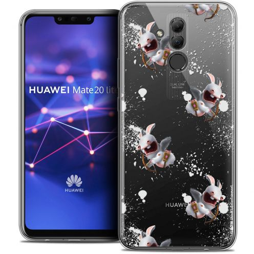 "Coque Gel Huawei Mate 20 Lite (6.3"") Extra Fine Lapins Crétins™ - Cupidon Pattern"