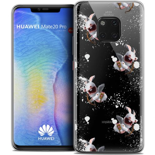 """Coque Gel Huawei Mate 20 PRO (6.4"""") Extra Fine Lapins Crétins™ - Cupidon Pattern"""