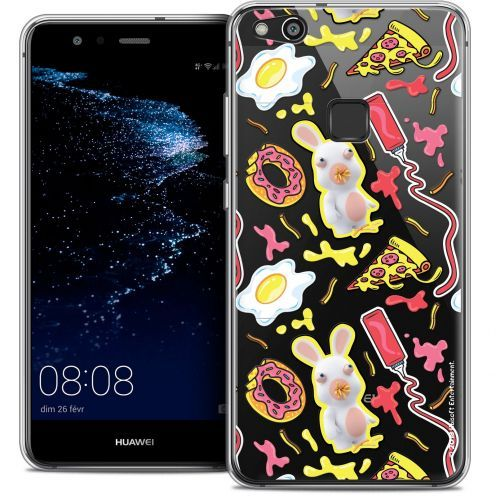 "Coque Gel Huawei P10 LITE (5.2"") Extra Fine Lapins Crétins™ - Egg Pattern"