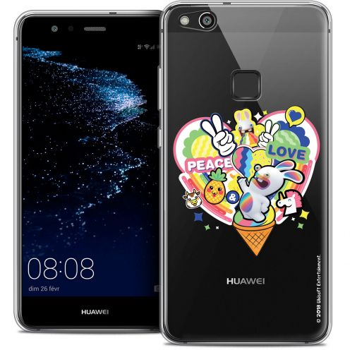 "Coque Gel Huawei P10 LITE (5.2"") Extra Fine Lapins Crétins™ - Peace And Love"