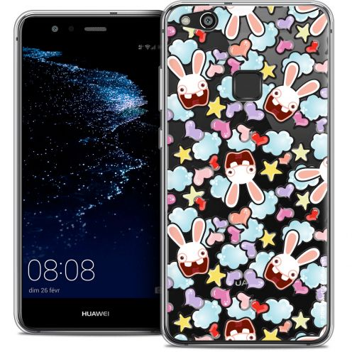 "Coque Gel Huawei P10 LITE (5.2"") Extra Fine Lapins Crétins™ - Love Pattern"