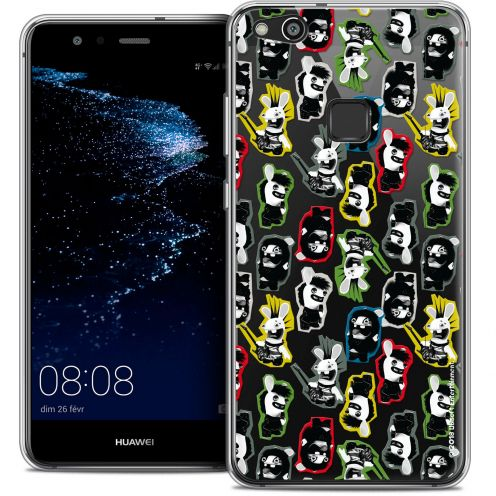 "Coque Gel Huawei P10 LITE (5.2"") Extra Fine Lapins Crétins™ - Punk Pattern"