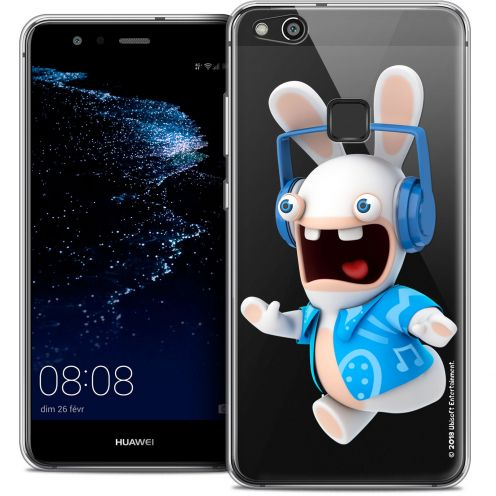 "Coque Gel Huawei P10 LITE (5.2"") Extra Fine Lapins Crétins™ - Techno Lapin"