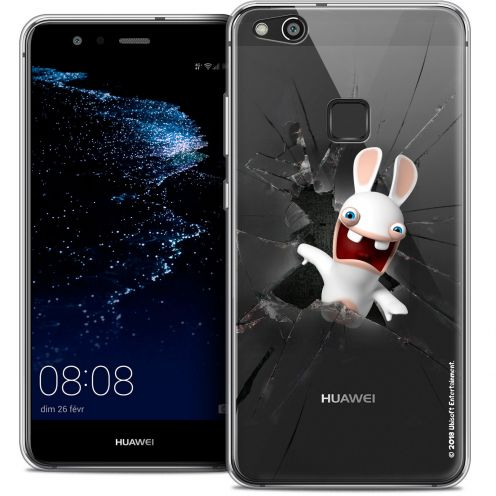 "Coque Gel Huawei P10 LITE (5.2"") Extra Fine Lapins Crétins™ - Breaking Glass"