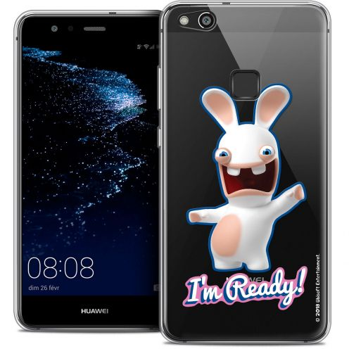 "Coque Gel Huawei P10 LITE (5.2"") Extra Fine Lapins Crétins™ - I'm Ready !"