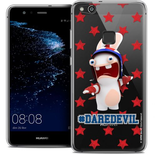 "Coque Gel Huawei P10 LITE (5.2"") Extra Fine Lapins Crétins™ - Dare Devil"