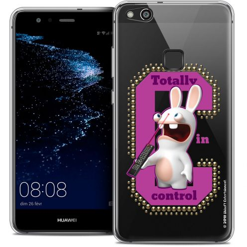 "Coque Gel Huawei P10 LITE (5.2"") Extra Fine Lapins Crétins™ - In Control !"