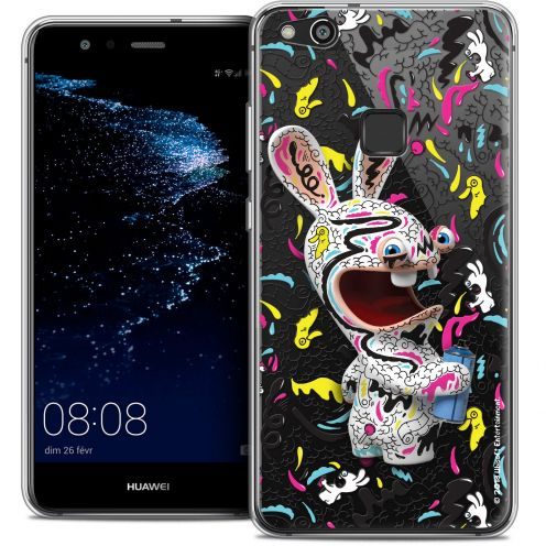 "Coque Gel Huawei P10 LITE (5.2"") Extra Fine Lapins Crétins™ - Tag"