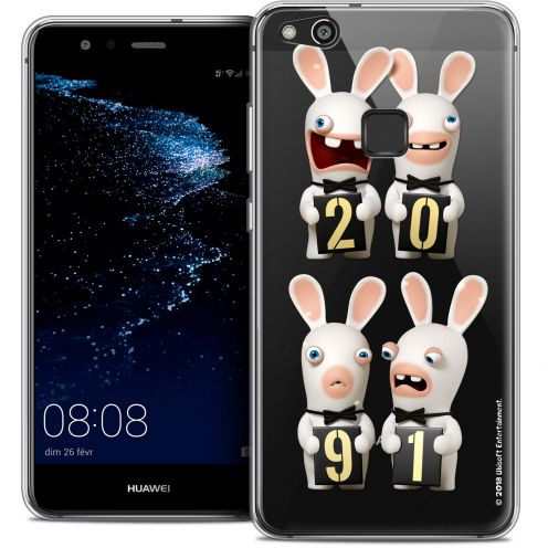 "Coque Gel Huawei P10 LITE (5.2"") Extra Fine Lapins Crétins™ - New Year"