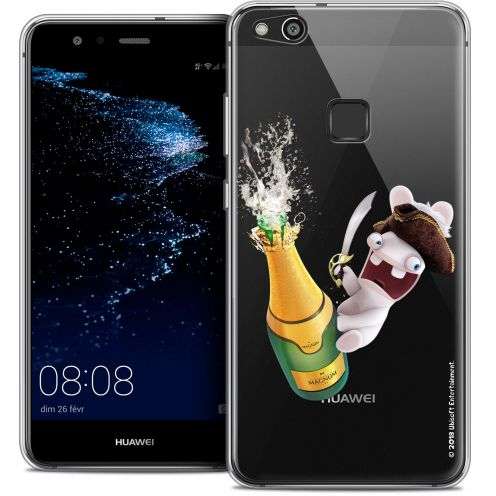 "Coque Gel Huawei P10 LITE (5.2"") Extra Fine Lapins Crétins™ - Champagne !"