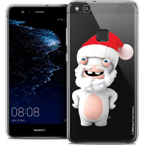 "Coque Gel Huawei P10 LITE (5.2"") Extra Fine Lapins Crétins™ - Lapin Noël"