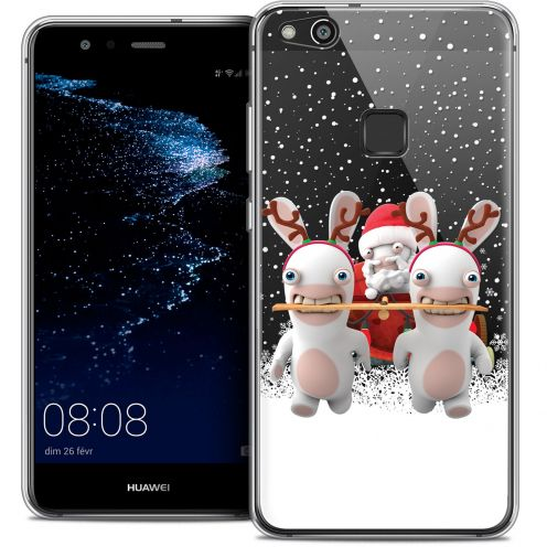 "Coque Gel Huawei P10 LITE (5.2"") Extra Fine Lapins Crétins™ - Lapin Traineau"