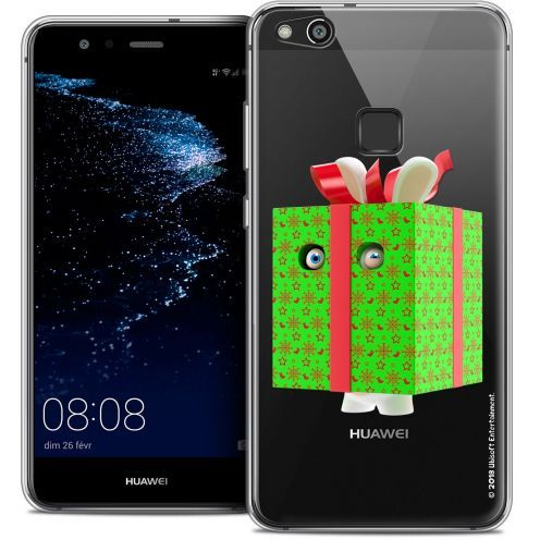 "Coque Gel Huawei P10 LITE (5.2"") Extra Fine Lapins Crétins™ - Lapin Surprise Vert"
