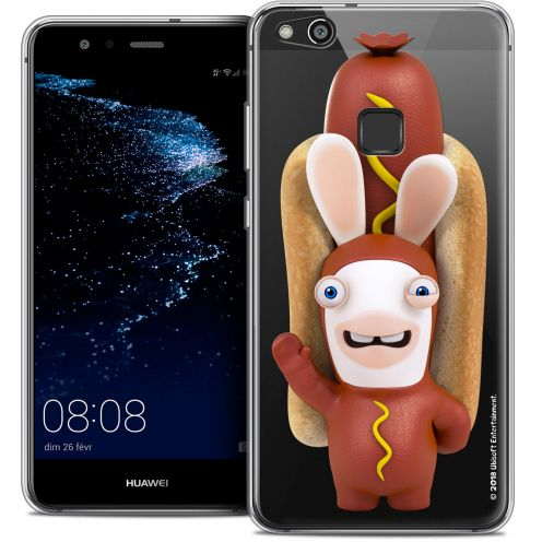 "Coque Gel Huawei P10 LITE (5.2"") Extra Fine Lapins Crétins™ - Hot Dog Crétin"