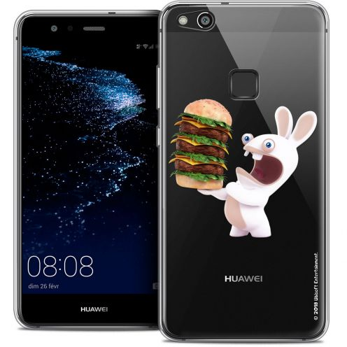 "Coque Gel Huawei P10 LITE (5.2"") Extra Fine Lapins Crétins™ - Burger Crétin"
