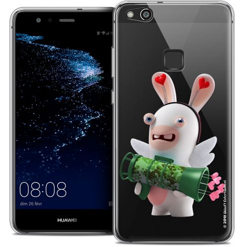 "Coque Gel Huawei P10 LITE (5.2"") Extra Fine Lapins Crétins™ - Cupidon Soldat"