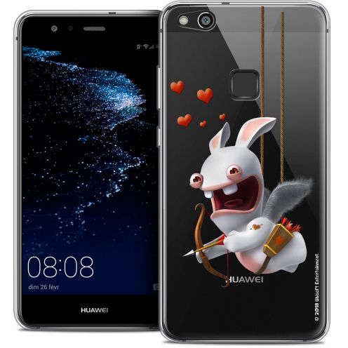 "Coque Gel Huawei P10 LITE (5.2"") Extra Fine Lapins Crétins™ - Flying Cupidon"
