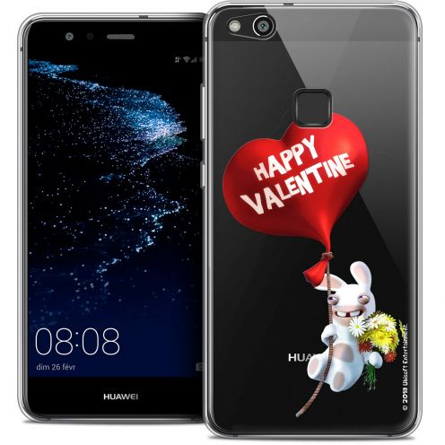 "Coque Gel Huawei P10 LITE (5.2"") Extra Fine Lapins Crétins™ - Valentin Crétin"