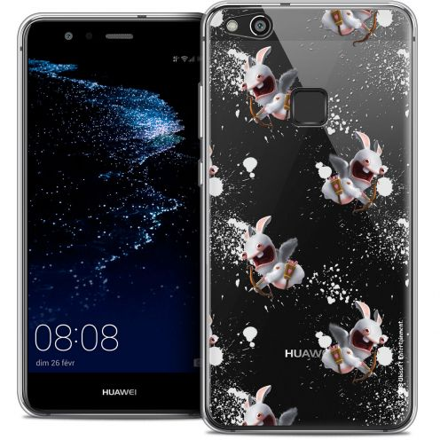 "Coque Gel Huawei P10 LITE (5.2"") Extra Fine Lapins Crétins™ - Cupidon Pattern"
