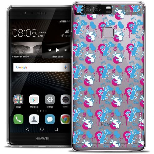 Coque Rigide Huawei P9 Extra Fine Lapins Crétins™ - Rugby Pattern