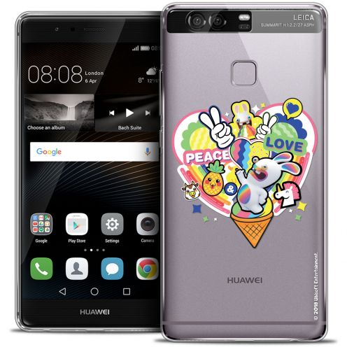 Coque Rigide Huawei P9 Extra Fine Lapins Crétins™ - Peace And Love