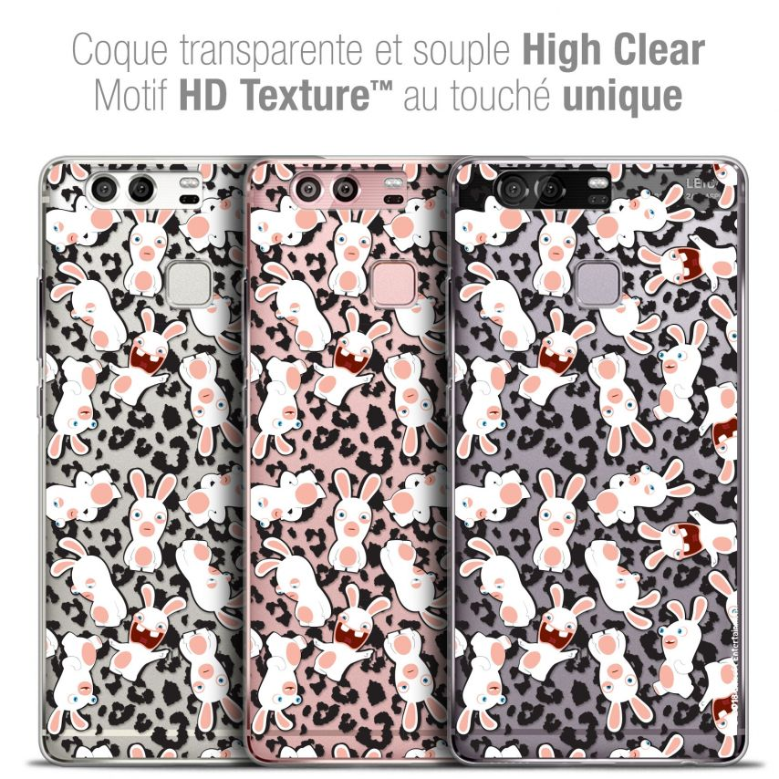 Coque Rigide Huawei P9 Extra Fine Lapins Crétins™ - Leopard Pattern