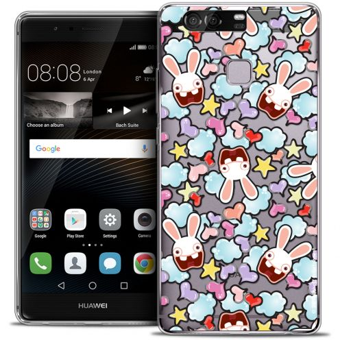Coque Rigide Huawei P9 Extra Fine Lapins Crétins™ - Love Pattern