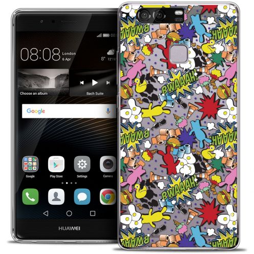 Coque Rigide Huawei P9 Extra Fine Lapins Crétins™ - Bwaaah Pattern