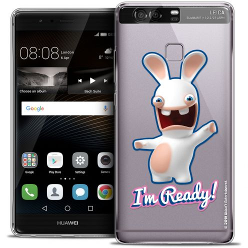 Coque Rigide Huawei P9 Extra Fine Lapins Crétins™ - I'm Ready !