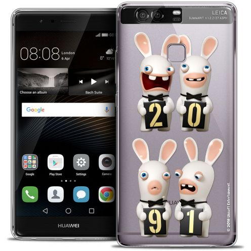 Coque Rigide Huawei P9 Extra Fine Lapins Crétins™ - New Year