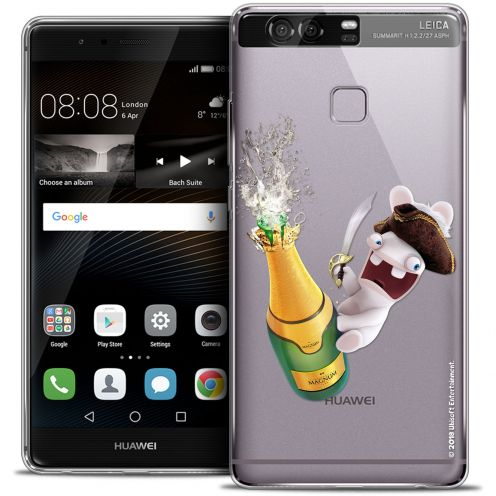 Coque Rigide Huawei P9 Extra Fine Lapins Crétins™ - Champagne !