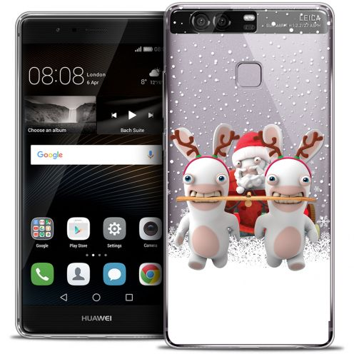 Coque Rigide Huawei P9 Extra Fine Lapins Crétins™ - Lapin Traineau