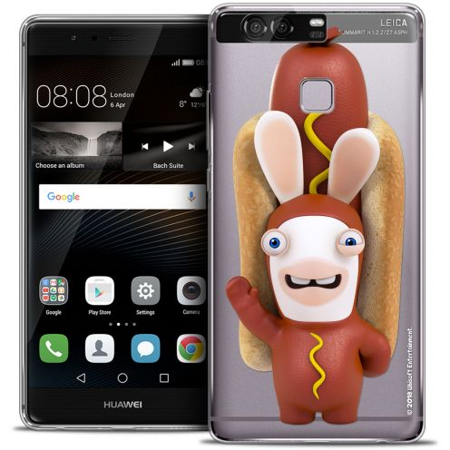 Coque Rigide Huawei P9 Extra Fine Lapins Crétins™ - Hot Dog Crétin
