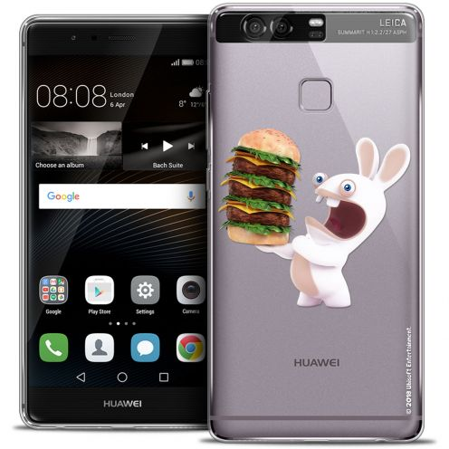Coque Rigide Huawei P9 Extra Fine Lapins Crétins™ - Burger Crétin