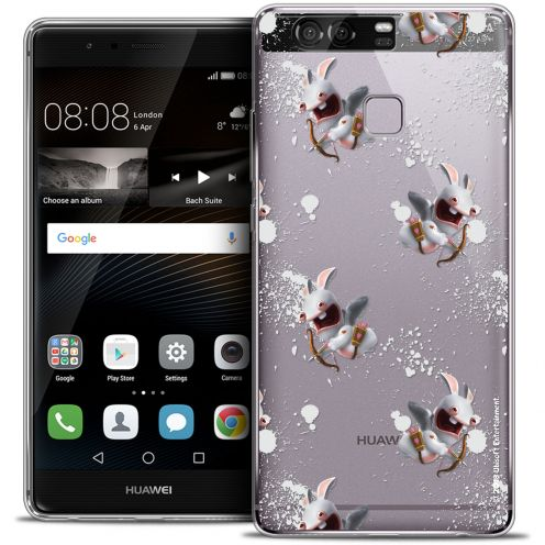 Coque Rigide Huawei P9 Extra Fine Lapins Crétins™ - Cupidon Pattern