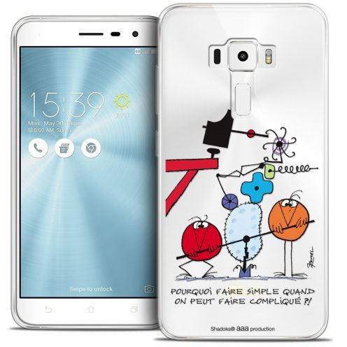 "Coque Gel Asus Zenfone 3 ZE520KL (5.2"") Extra Fine Les Shadoks® - Pourquoi faire Simple"
