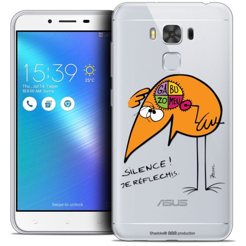 "Coque Gel Asus Zenfone 3 Max Plus ZC553KL (5.5"") Extra Fine Les Shadoks® - Silence !"