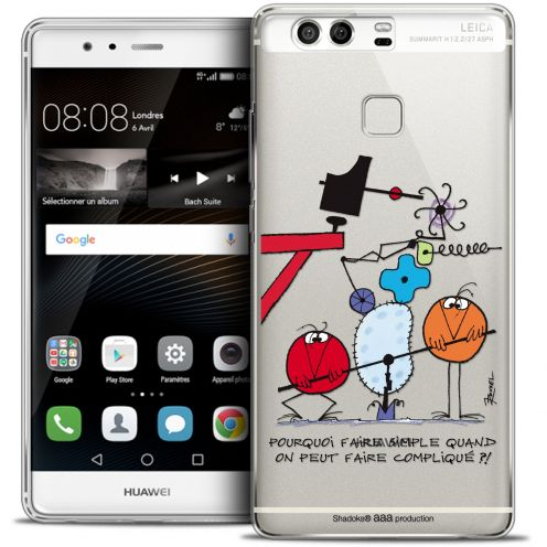 Coque Rigide Huawei P9 Extra Fine Les Shadoks® - Pourquoi faire Simple